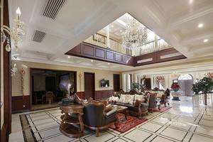 美式风格别墅豪华客厅装修效果图赏析
