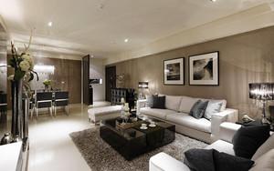 119平米现代风格精装三室两厅室内装修效果图赏析
