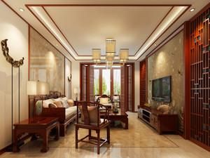 146平米古典中式风格大户型室内装修效果图案例