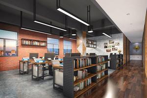 120平米现代风格书店展柜设计装修效果图
