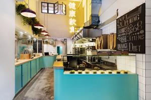 56平米混搭风格奶茶店设计装修效果图