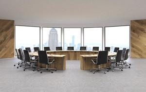 90平米简约风格精致会议室装修效果图赏析