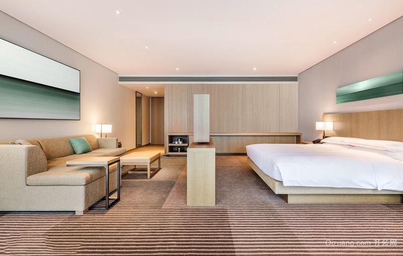 宜家風格簡約溫馨酒店客房設計裝修效果圖