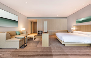 宜家风格简约温馨酒店客房设计装修效果图