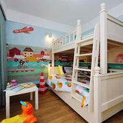 北欧风格时尚活泼双层床儿童房装修效果图