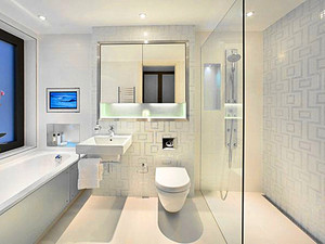 86平米现代简约风格两室两厅室内装修效果图赏析