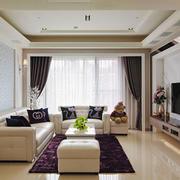 简欧风格两居室温馨客厅吊顶设计装修效果图