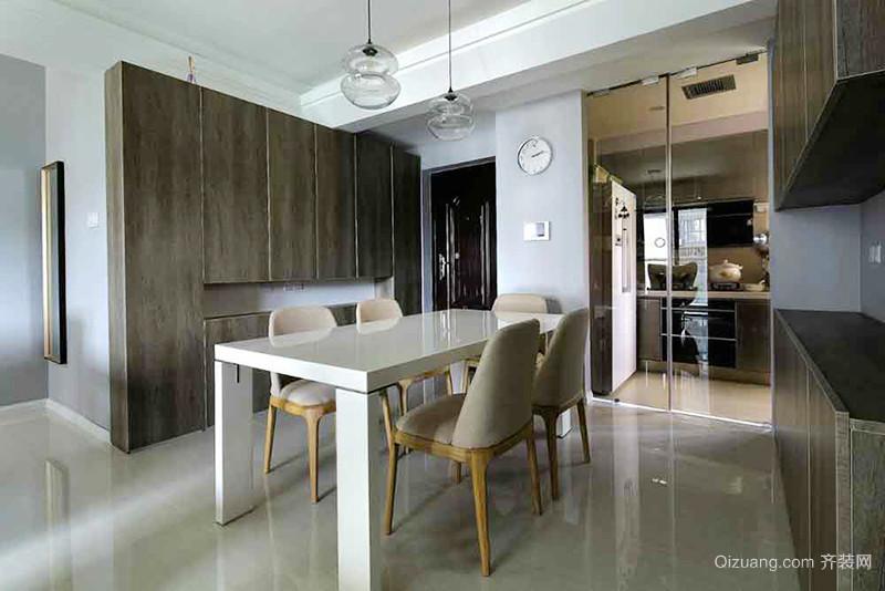 89平米简约风格简装三室两厅室内装修效果图赏析