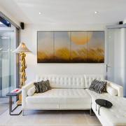 现代简约风格小户型客厅沙发背景墙效果图