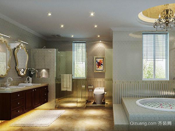289平米古典欧式风格别墅室内装修效果图案例