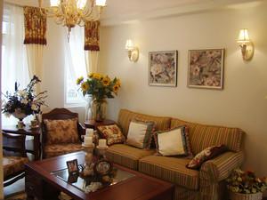 95平米欧式风格精致两室两厅一卫装修效果图赏析