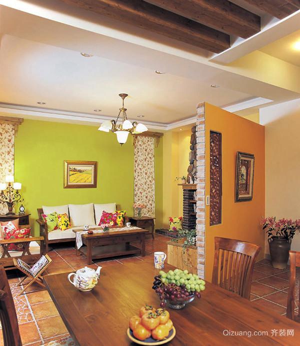 260平米欧式田园风格精致别墅室内装修效果图案例