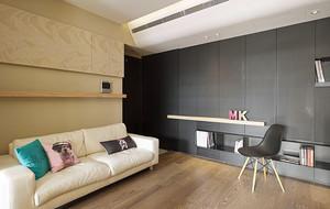 65平米现代风格一居室小户型室内装修效果图案例