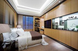 132平米新中式风格三室两厅室内装修效果图案例