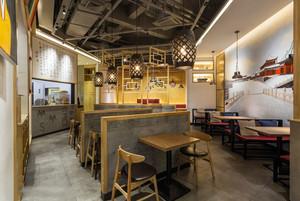 84平米中式风格中餐厅设计装修效果图