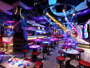 200平米现代风格精致音乐酒吧设计装修效果图