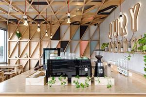 50平米宜家风格简约咖啡厅装修效果图