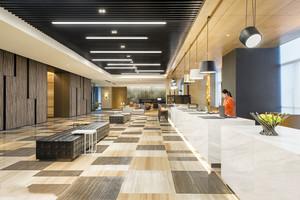 400平米现代简约风格酒店前台设计装修效果图