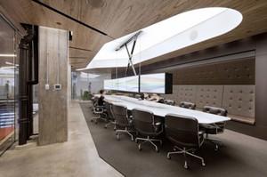 90平米现代风格精致会议室吊顶设计装修效果图赏析