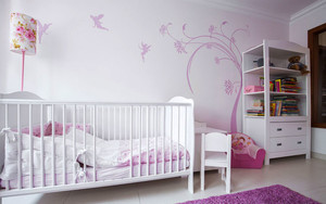 简欧风格时尚精致婴儿房设计装修效果图