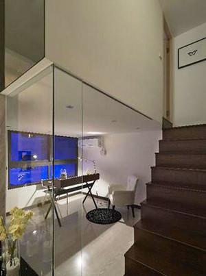 94平米现代风格精致小复式楼装修效果图案例