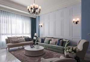 现代简约美式风格大户型精致客厅装修效果图赏析