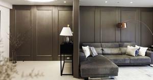 后现代风格两居室客厅隔断设计装修效果图
