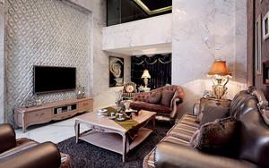 280平米美式风格精致别墅室内装修效果图案例