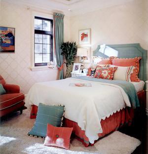 美式风格两居室清新温馨卧室装修效果图赏析