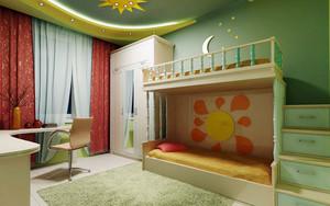 现代简约风格清新双层床儿童房装修效果图赏析