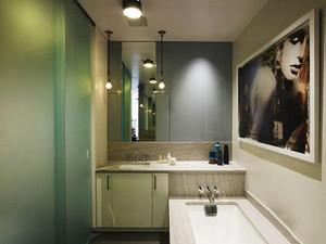 后现代风格精致卫生间玻璃隔断设计装修效果图