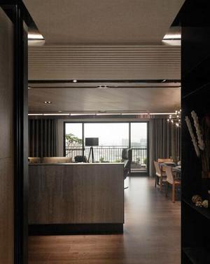 136平米后现代风格三室两厅室内装修效果图案例