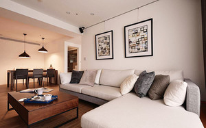 88平米现代风格精致两室两厅一卫装修效果图案例