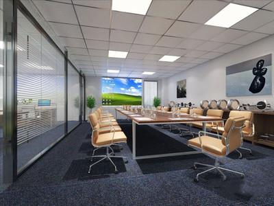 186平米现代风格多功能会议室装修效果图赏析