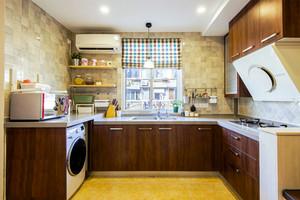 67平米时尚混搭风格一居室小户型室内装修效果图案例