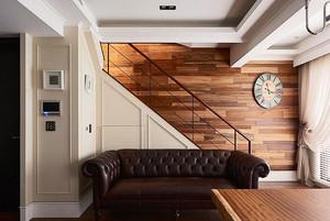 156平米美式混搭风格复式楼室内装修效果图