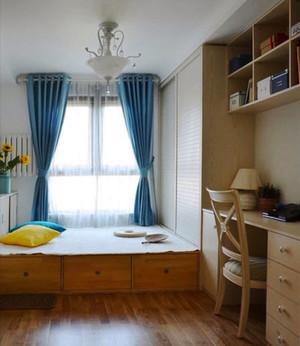 现代美式风格精致榻榻米卧室装修效果图赏析