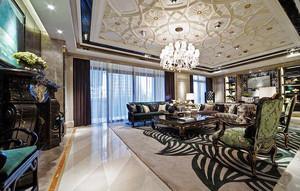 240平米欧式风格奢华精致别墅室内装修效果图案例