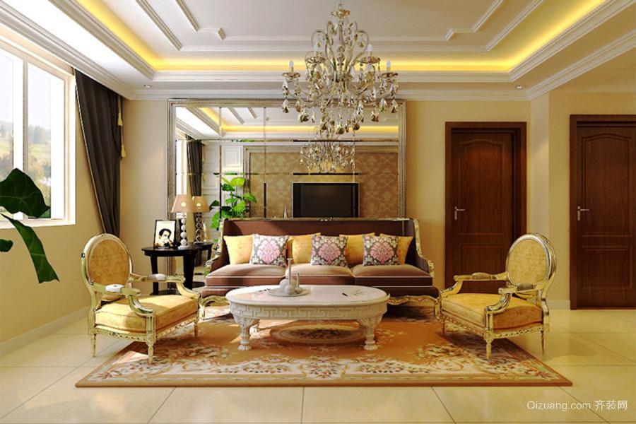 欧式风格宫廷风别墅客厅装修效果图赏析