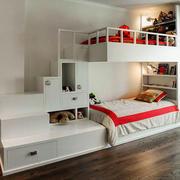 现代简约风格创意双层床儿童房装修效果图赏析