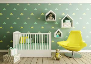 清新风格时尚可爱婴儿房设计装修效果图