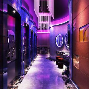 160平米现代风格音乐酒吧过道设计装修效果图