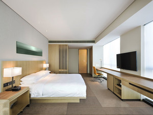 36平米中式风格酒店客房设计装修效果图赏析