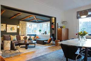 112平米北欧风格恬静浅色两室两厅室内装修效果图