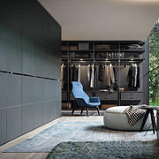 后现代风格别墅室内精致衣帽间设计装修效果图