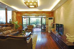 84平米东南亚风格精致两室两厅室内装修效果图案例