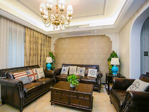 96平米古典欧式风格两室两厅室内装修效果图赏析