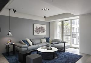 78平米后现代风格两室一厅设计装修效果图赏析