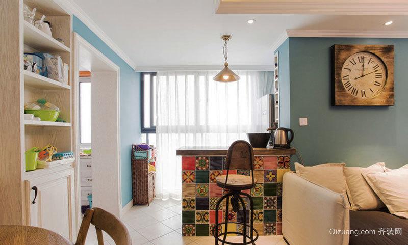 美式混搭风格精致家装吧台设计装修效果图赏析