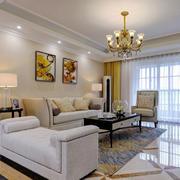 简欧风格精致时尚客厅设计装修效果图赏析